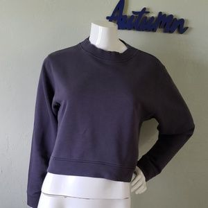 VARLEY gray with hint of blue cropped sweater top